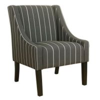 Buy HomePop Striped Swoop Accent Chair in Grey from Bed ...
