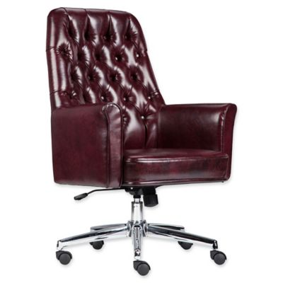 tufted leather executive office chair Flash Furniture Mid-Back Tufted Leather Executive Office