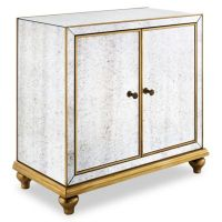 Buy Pulaski Antique Mirrored 2-Door Wine Cabinet with Gold ...