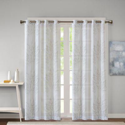 sheer curtain ideas for living room best neutral color walls madison park adair grommet top burnout window ...