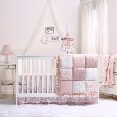 The Peanut Shell Grace 4 Piece Crib Bedding Set Bed