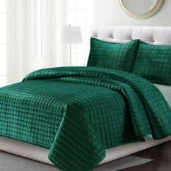 Personalized Kitchen Gifts Slim Cabinet Tribeca Living Florence Velvet Quilt Set - Bed Bath & Beyond