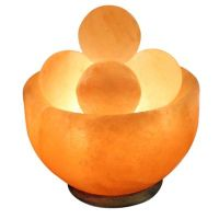 Himalayan Salt Bowl Lamp with Massage Stones - Bed Bath ...