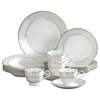 Buy Mikasa Parchment 20-Piece Fine China Dinnerware Set ...