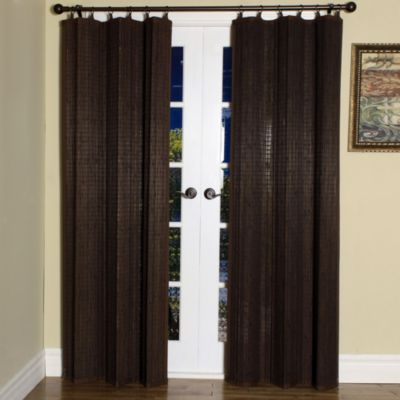 Easy Glide All Natural Bamboo Ring Top Window Curtain Panels Bed Bath Amp Beyond