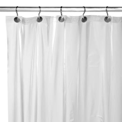 Heavy Weight Frost Shower Curtain Liner  Bed Bath  Beyond