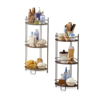 3Tier Corner Storage Shelf  Bed Bath  Beyond