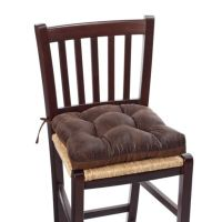 Faux Leather Waterfall Chair Pad in Brown - Bed Bath & Beyond
