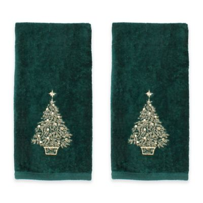 Glimmer Tree Hand Towels Set Of 2 Bed Bath Amp Beyond