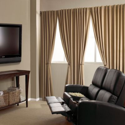 Absolute Zero Velvet Blackout Home Theater Curtain Panels Bed Bath Amp Beyond