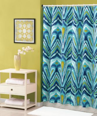 Trina Turk® 72 Inch X 72 Inch Shower Curtain In Blue Peacock Bed