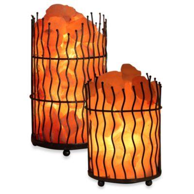 Himalayan Glow Ionic Salt Crystal Wavy Basket Lamp