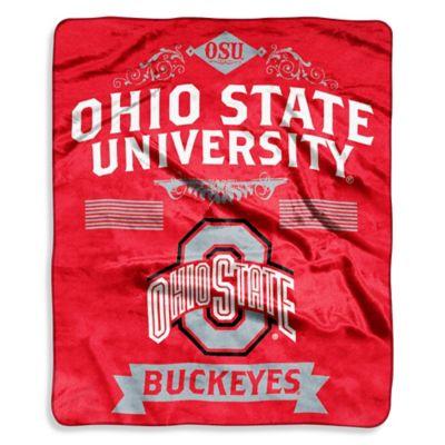 Ohio State University Raschel Throw Bed Bath  Beyond