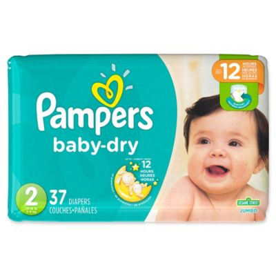 Pampers Baby Dry 37Count Size 2 Jumbo Pack Disposable