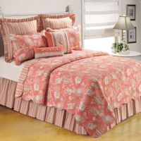 Natural Shells Quilt in Coral - Bed Bath & Beyond