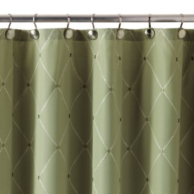 Wellington Shower Curtain In Green Bed Bath Amp Beyond