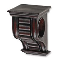 Cambria Premier Wood Drapery Sconce in Cherry - Bed Bath ...