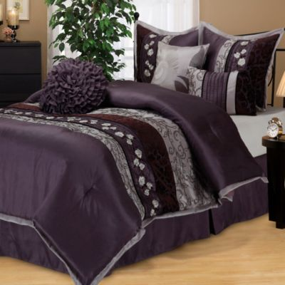 Buy Riley Comforter Set in Purple from Bed Bath  Beyond