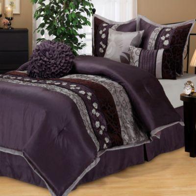 Buy Riley Comforter Set in Purple from Bed Bath  Beyond