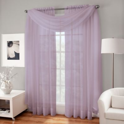 Crushed Voile Sheer Scarf Valance  Bed Bath  Beyond