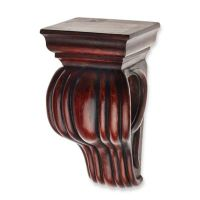 Cambria Classic Wood Drapery Sconce in Cherry - Bed Bath ...