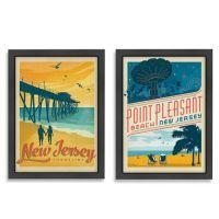 Americanflat Jersey Shore Framed Wall Art - Bed Bath & Beyond