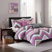 Buy Elise Twin/Twin XL Comforter Set in Pink/Grey from Bed ...