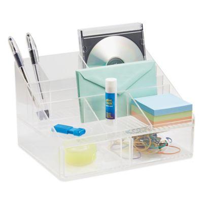 InterDesign Linus Clear 2Drawer Desk Organizer  Bed