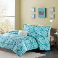 Buy Mizone Nia Twin/Twin XL Comforter Set in Teal from Bed ...