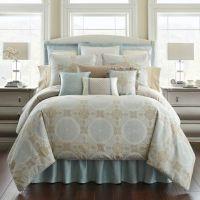 Waterford Linens Jonet Reversible Comforter Set in Cream ...