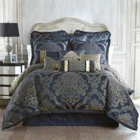 Waterford Linens Vaughn Reversible Comforter Set in Navy ...