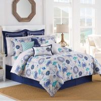 Williamsburg Barnegat Coastal Comforter Set in Blue - Bed ...