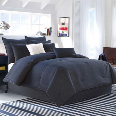 Nautica Seaward Comforter Set in Denim Blue Bed Bath
