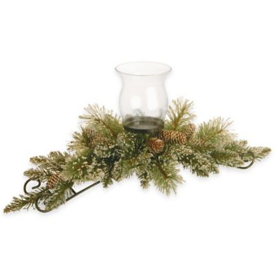 National Tree Company 30 Inch Glittery Bristle Pine Candle
