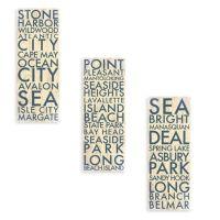 Jersey Shore Landmark Typography Canvas Wall Art ...