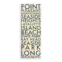 Buy Jersey Shore Central Landmark Typography Canvas Wall ...