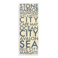Jersey Shore South Landmark Typography Canvas Wall Art ...