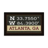 Atlanta Georgia Coordinates Framed Wall Art - Bed Bath ...