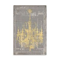 Buy Distressed Chandelier Canvas Wall Art in Grey from Bed ...