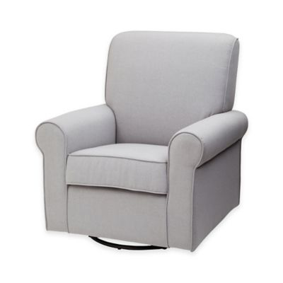 delta avery nursery glider chair grey barcelona leather cushions upholstered - buybuy baby