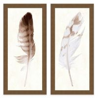 Feather Panel Framed Art Print - Bed Bath & Beyond