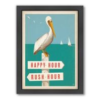 Buy Pelican Signpost Framed Wall Art by Anderson Design ...