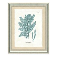 Buy Framed Giclee Teal Seaweed Print I Wall Art from Bed ...