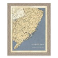 Map of the New Jersey Shore Framed Wall Art - Bed Bath ...
