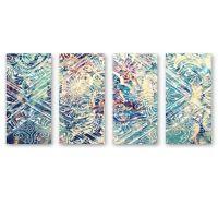 Oliver Gal Damask Canvas Wall Art (Set of 4) - Bed Bath ...