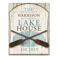 Family Lake House Canvas Wall Art - Bed Bath & Beyond