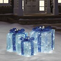 Hanukkah Gift Boxes with Lights in Blue/White - Bed Bath ...