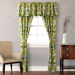 Kitchen Window Valance Cooking Sets Tommy Bahama® Blue Palm Curtain Panels And ...