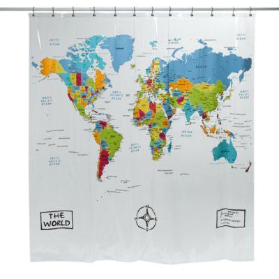 The World Vinyl Shower Curtain Bed Bath & Beyond