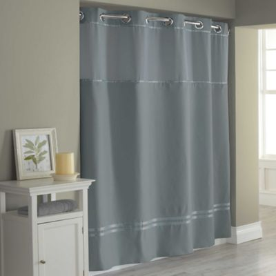 Hookless Escape Fabric Shower Curtain and Shower Curtain